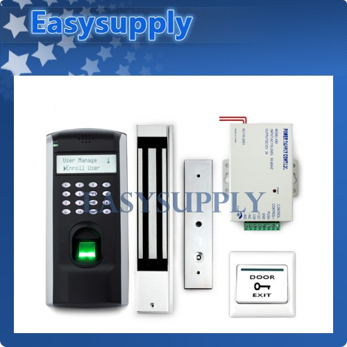Fingerprint Access Control+Magnetic Lock+powersupply